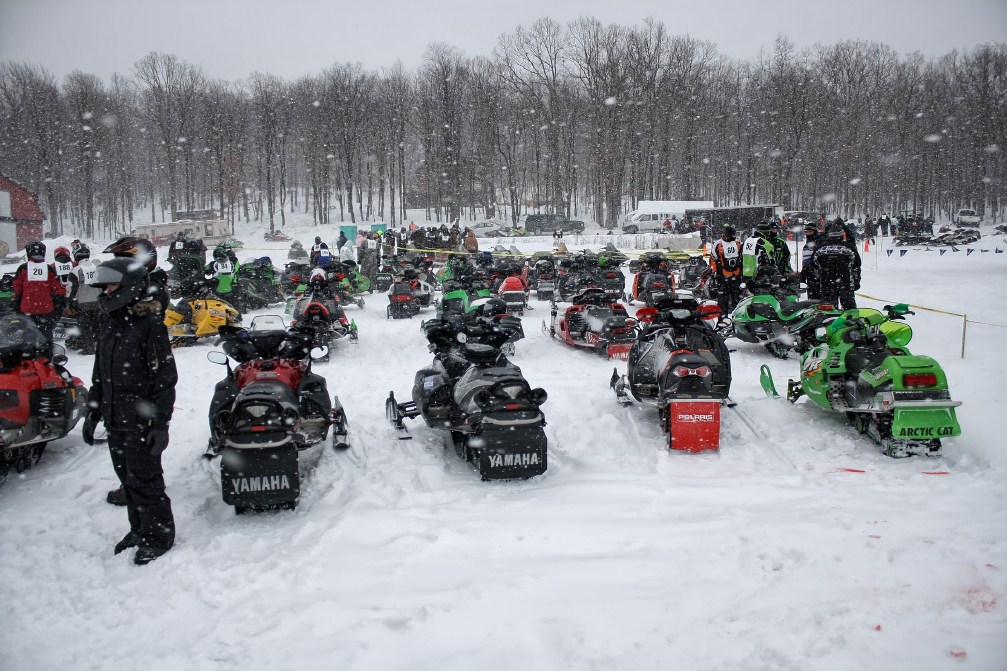 Snowmobile Drag Races Deep Creek Lake