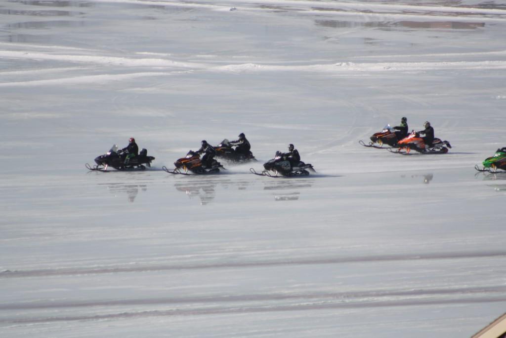 Deep Creek Lake-Snowmobile Warnings
