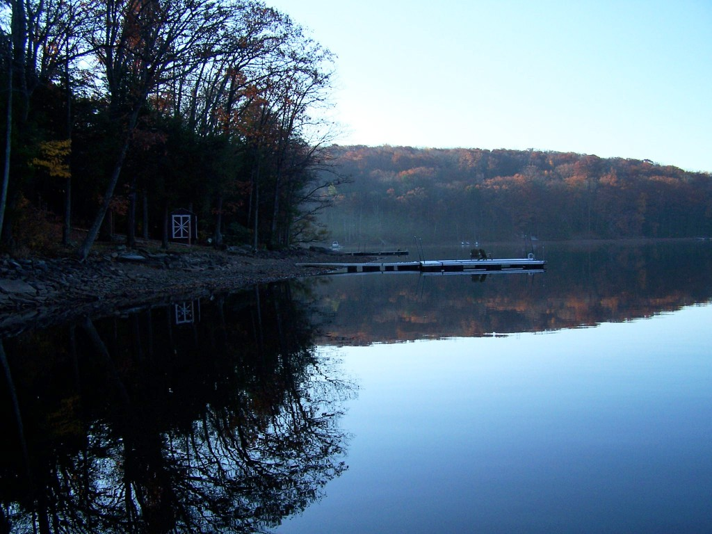 Enjoying Glassy Deep Creek Lake